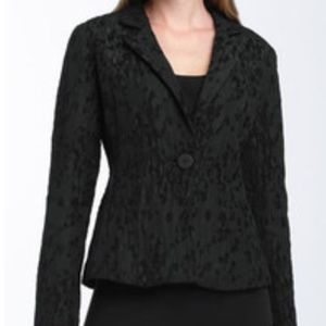 Eileen Fisher Twinset Water Lily Jacquard Jacket M